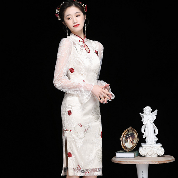 Lilian Cheongsam Lace Dress