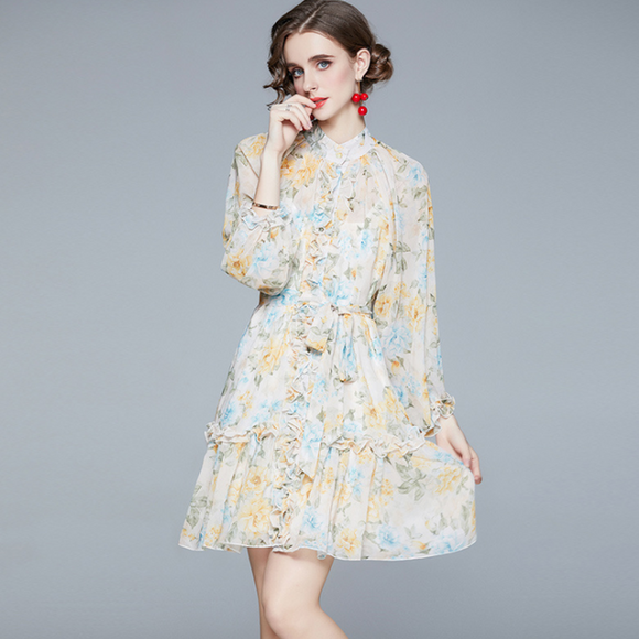 Addison Chiffon Flora Dress