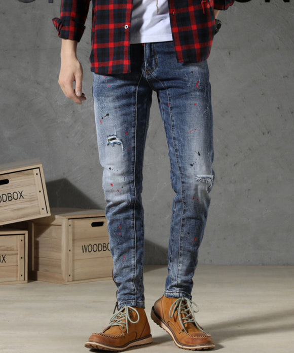 Easton Ripped Slim Fit Jeans