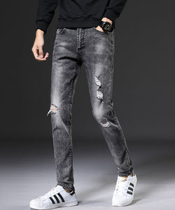 Wesley Ripped Slim Fit jeans (Non-Returnable)