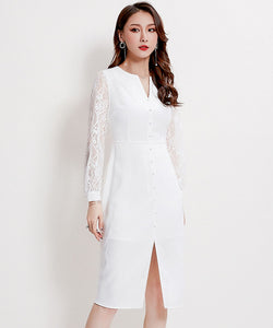 Katelyn Lace Sleeve Dress (Non-Returnable)
