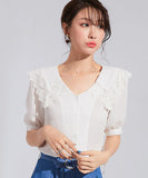 Elly Lace Chiffon Top (Non-Returnable)