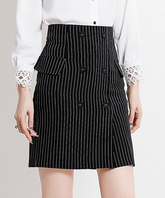 Jane Stripe Skirt