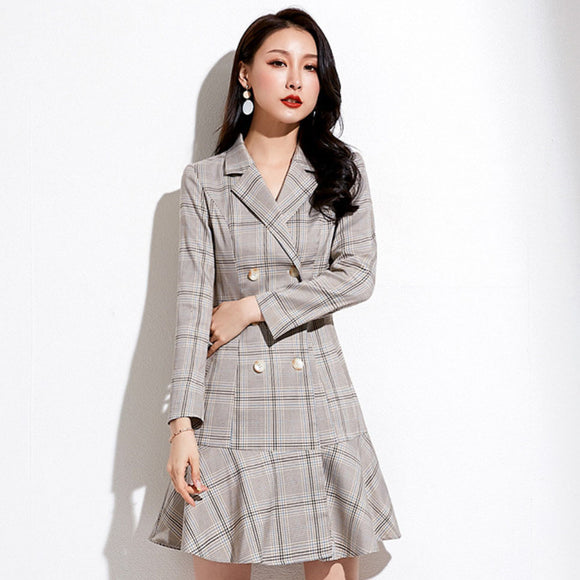 Kathleen Checked Coat Dress