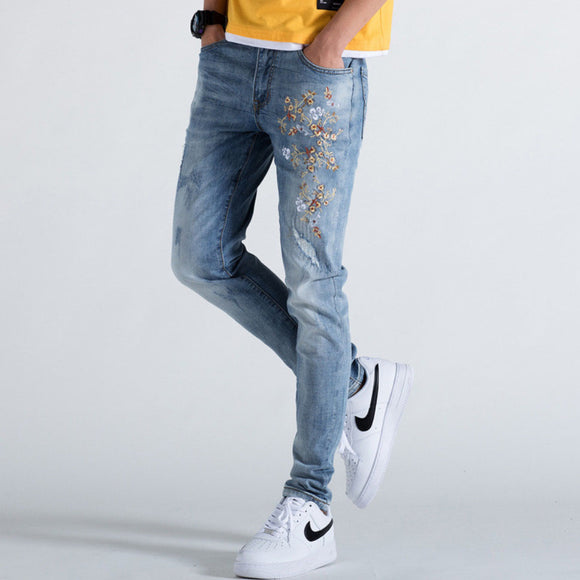 Raymond Embroidery Slim Fit Jeans (Non-Returnable)