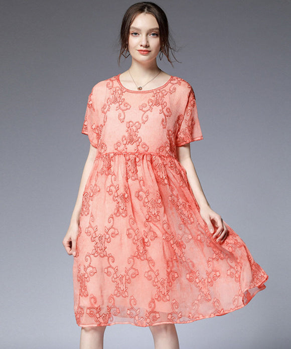 Abigail Two Piece Embroidery Dress
