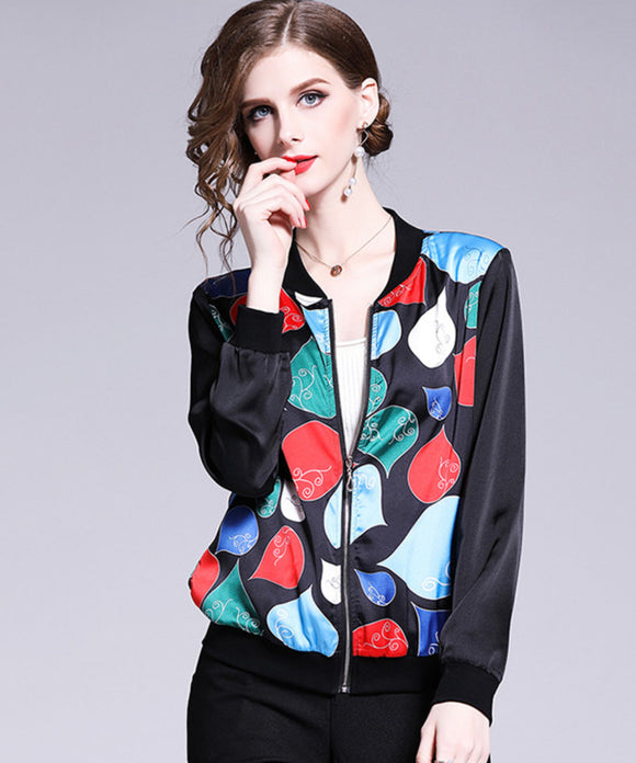 Charmaine Chiffon Baseball Jacket