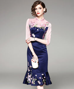Klara Embroidery One Piece Cheongsam