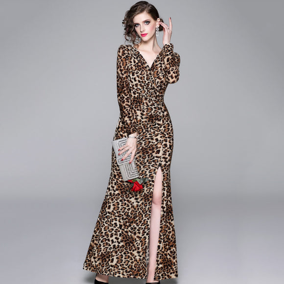Saylor Leopard Print Dress
