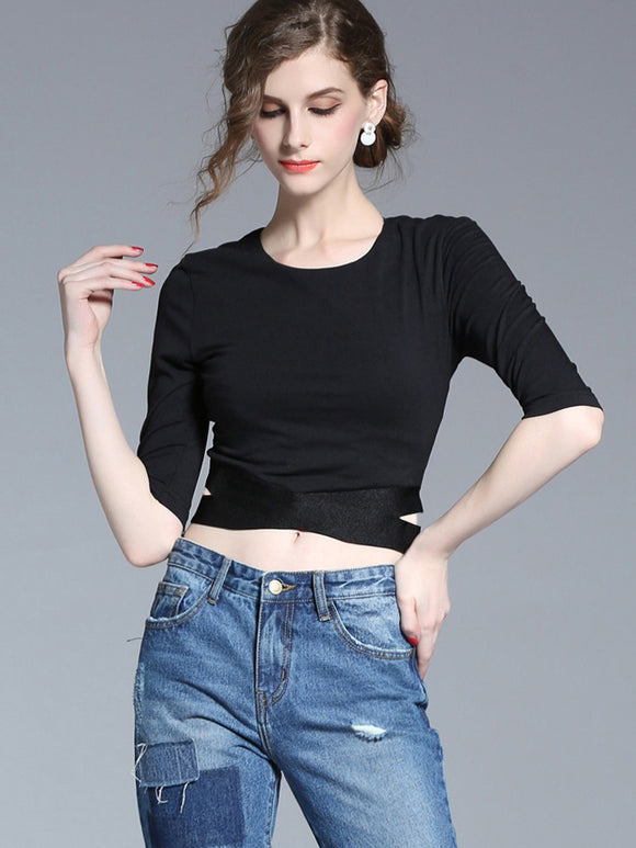 Brigitte Reveal Waist T-Shirt (Non-Returnable)
