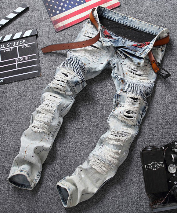 Heinrich Ripped Slim Fit Jeans (Non-Returnable)
