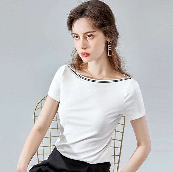 Gry Boat Neck Top