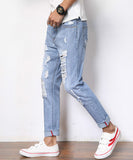 Edur Ripped Slim Fit Jeans (Non-Returnable)