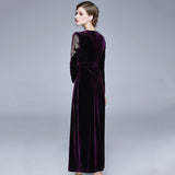 Palmer V Neck Velvet Dress (Non-Returnable)