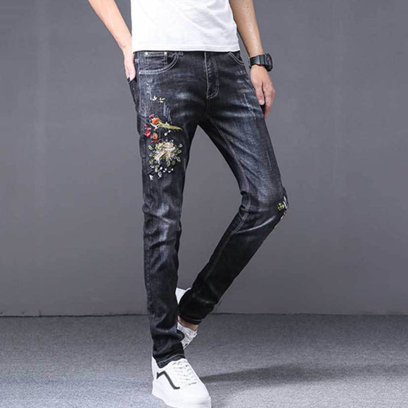 Spencer Embroidery Slim Fit Jeans