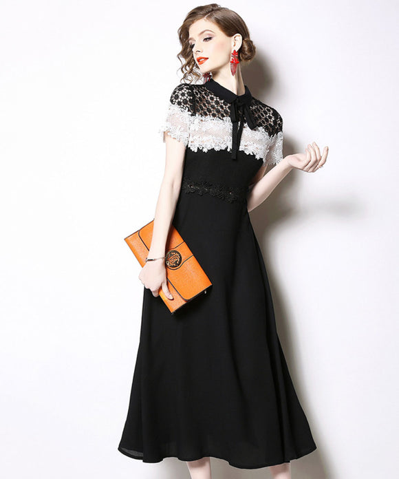 Casey Lace Chiffon Dress (Non-Returnable)