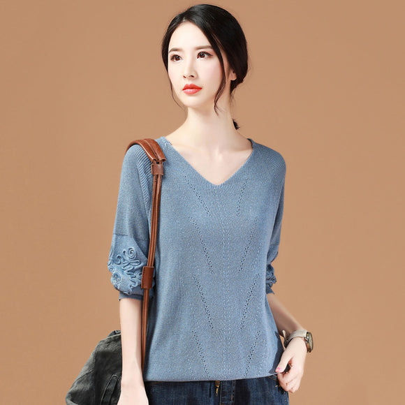 Ava V Neck Knit Top (Non-Returnable)