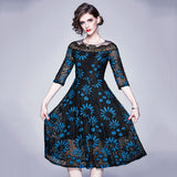 Aura Lace Print Dress