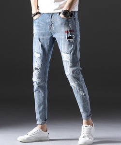Ian Ripped Slim Fit Jeans (Non-Returnable)