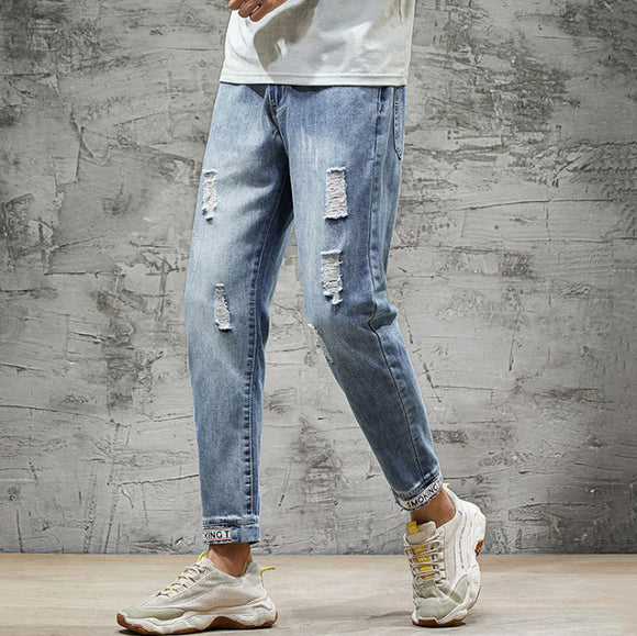 Phillip Ripped Slim Fit Jeans (Non-Returnable)