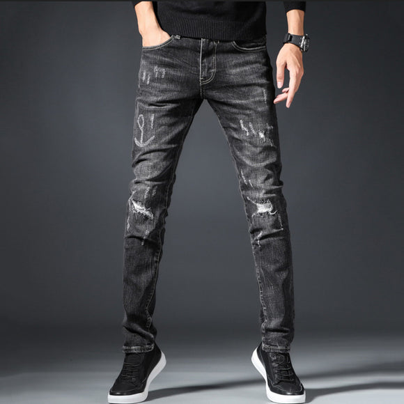 Santino Ripped Slim Fit Jeans (Non-Returnable)