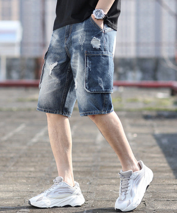 William Ripped Denim Shorts