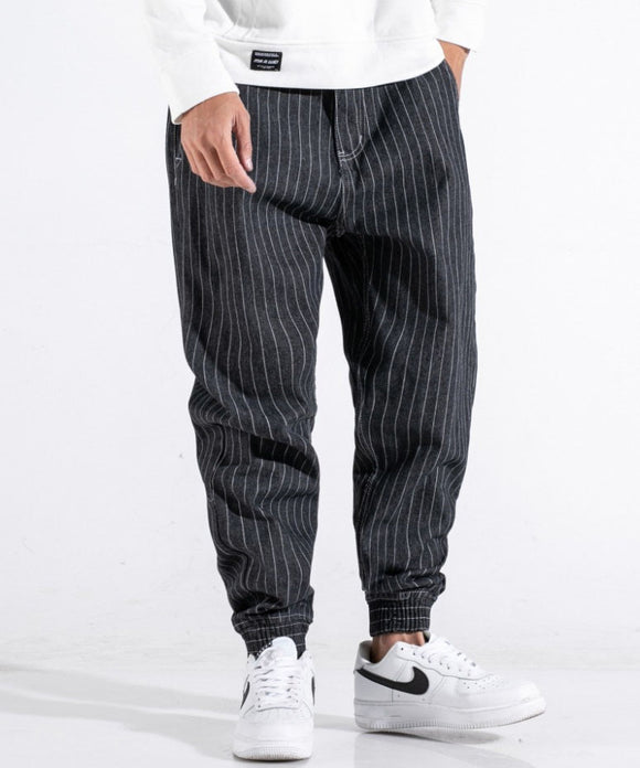 Joaquin Striped Harem Jeans