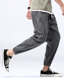 Dave Striped Drawstring Pants (Non-Returnable)