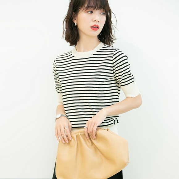 Hannah Stripes Knit Top