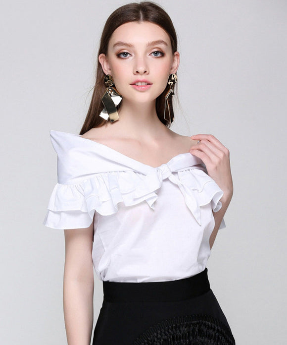 Odina Frill Blouse Top  (Non-Returnable)