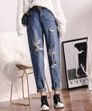 Taylor Ripped Boyfriend Jeans (Non-Returnable)