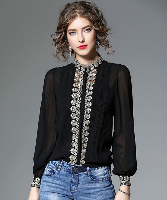 Danica Embroidery Blouse