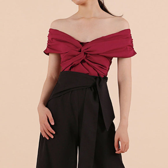 Quinn Off Shoulder Cropped Top
