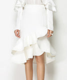 Denise High Waist Frill Skirt (Non-Returnable)