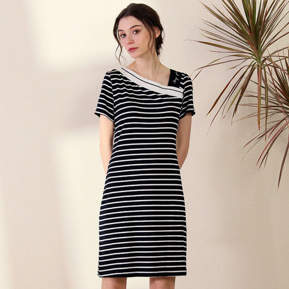 Raven Stripe Dress