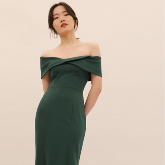 Sienna Off Shoulder Midi Dress