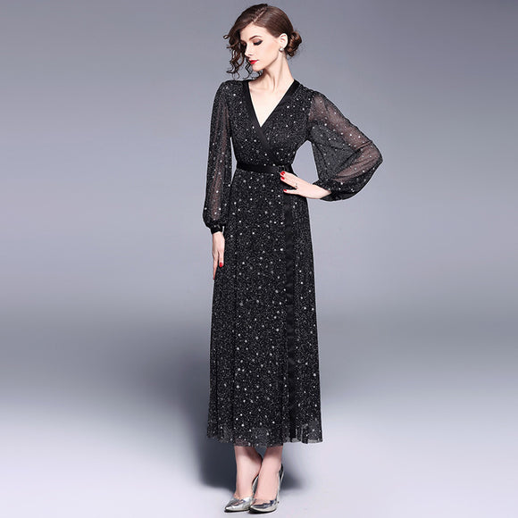 Diora Starry Maxi Dress