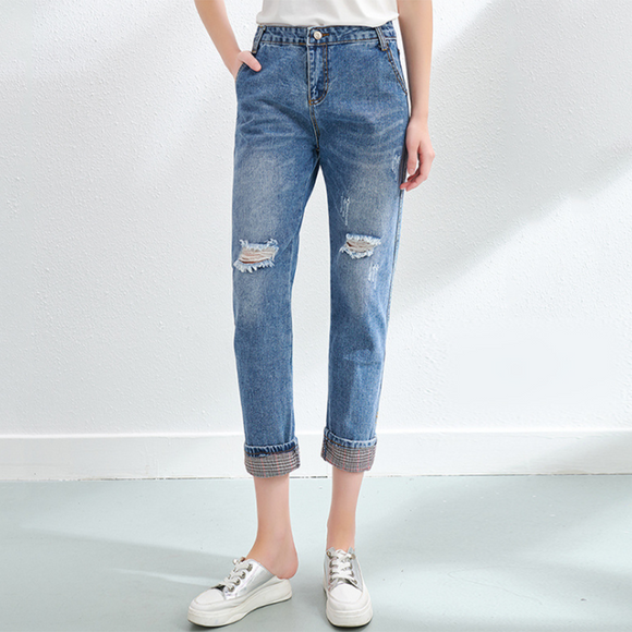 Ella High Waist Ripped Jeans