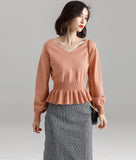 Gianna V Neck Knit Top