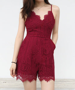 Molly Lace Romper (Non-Returnable)
