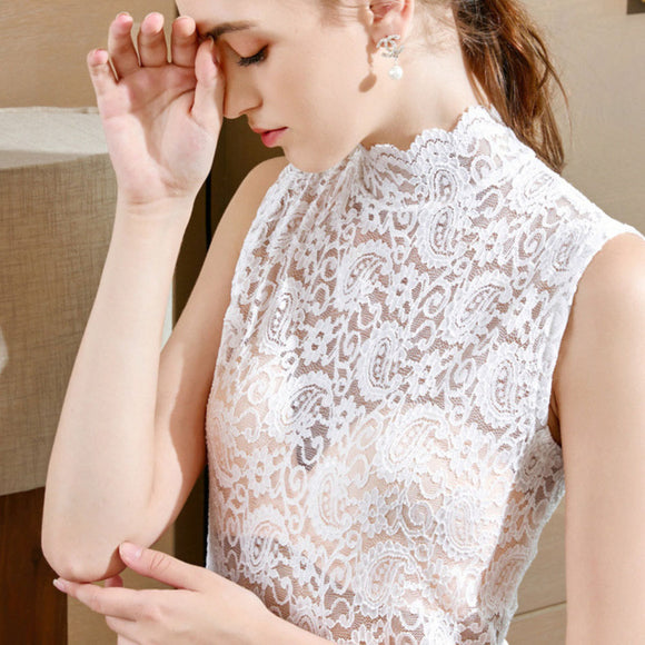 Peggy Sleeveless Lace Top