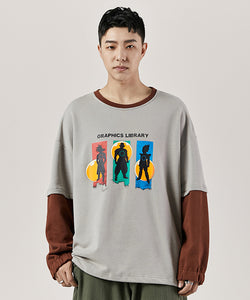 Deve Fake Two-Piece Sweatshirt