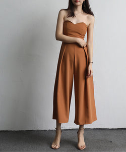 Debby Tube Top Culotte Jumpsuit (Non-Returnable)
