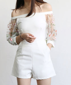 Jasmine Off Shoulder Romper (Non-Returnable)