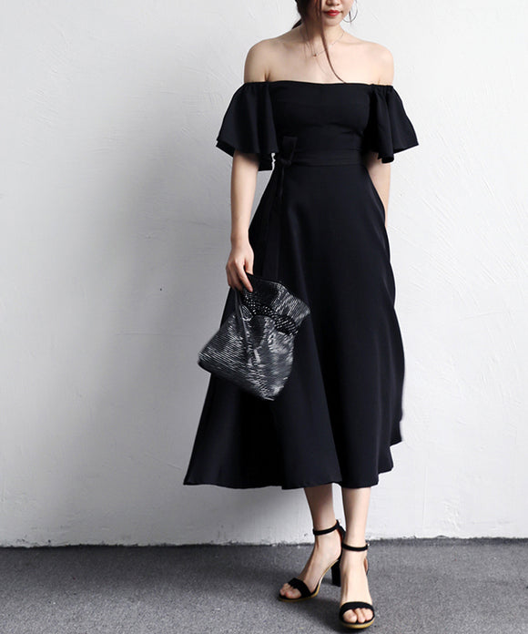 Phobe Off Shoulder Midi Dress (Non-Returnable)