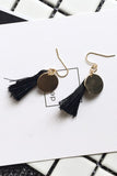 Mia Tassel Earring - Black