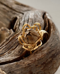 """Be Blessed"" 14k Gold Dipped O/S Ring"