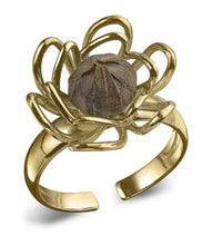 "Load image into Gallery viewer, ""Be Blessed"" 14k Gold Dipped O/S Ring"