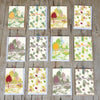 10 Happy New Year Leaves Pattern  rectangular greeting cards