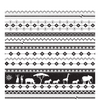 Black And White African Images Square Picture (40/40 Cm.)